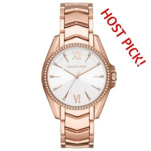 Michael Kors Ladies' Whitney Rose Gold-Tone Watch